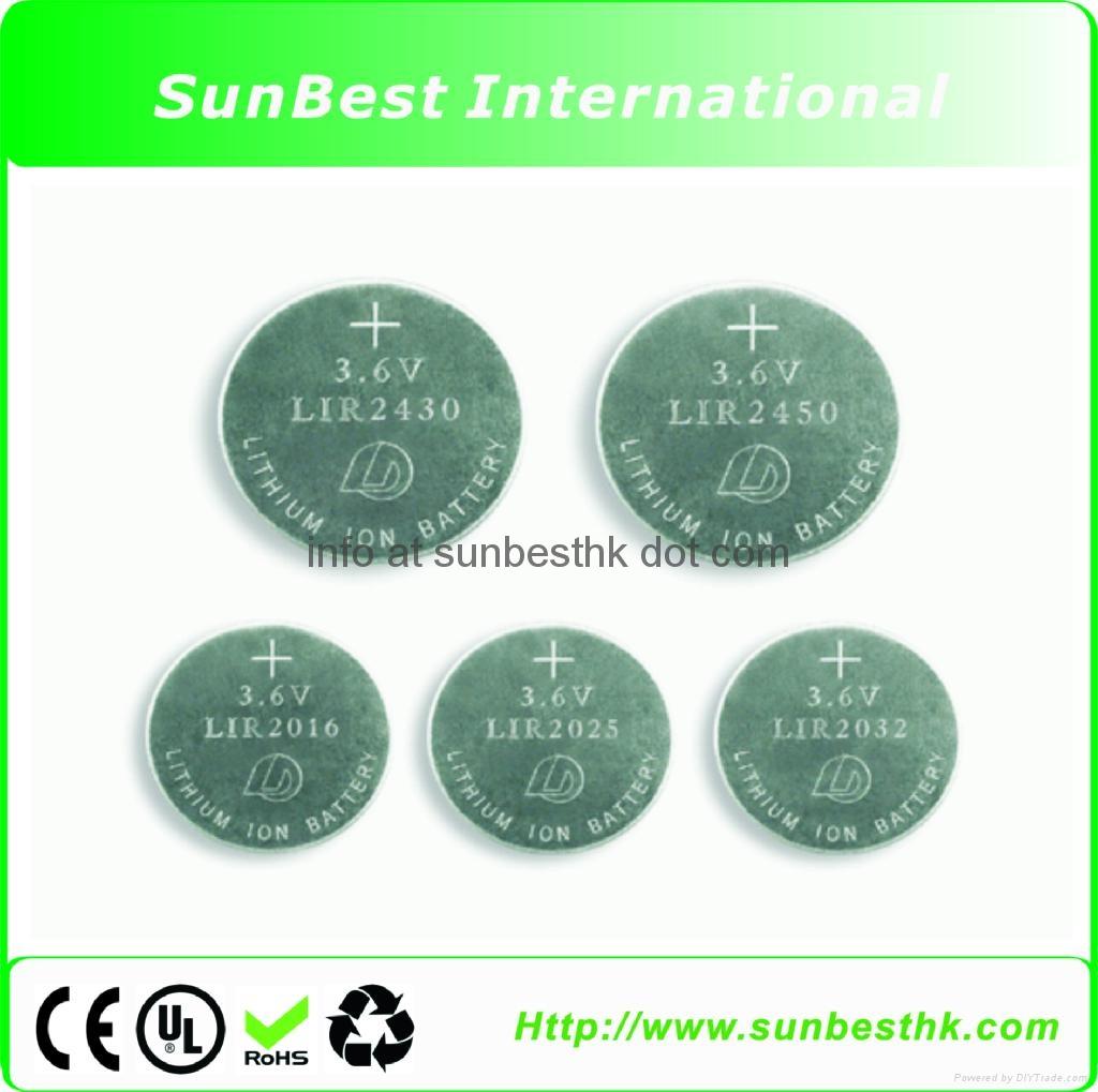 LIR Series Li-ion Button Cells