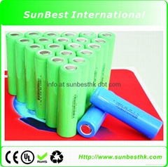 2000MAH Li-ion Cylindrical Batteries 18650 Cell