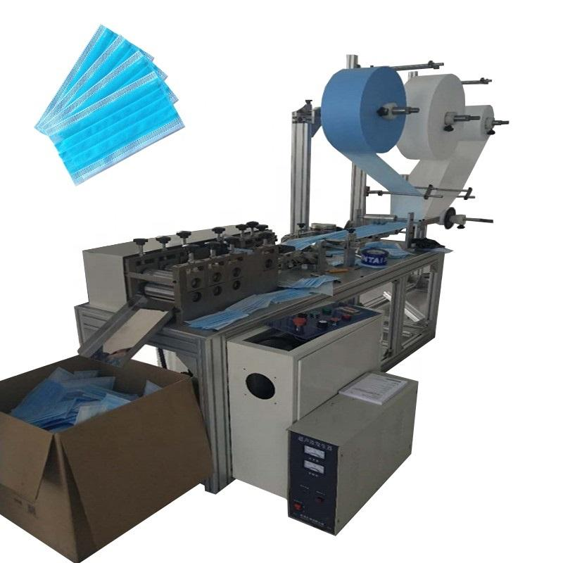 Semi Automatic 3 ply Nonwoven Fabric Disposable Face Mask Making Machine 1