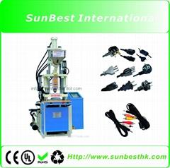 High pressure vertical injection machine for AC plug/AV plug