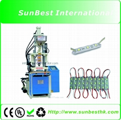 High pressure vertical injection machine for LED module