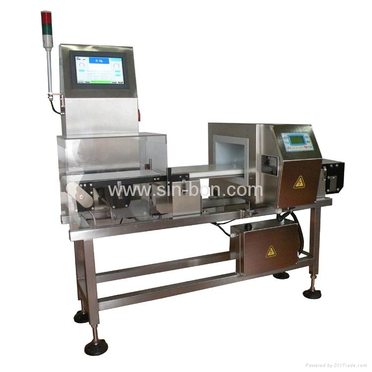 Combination Metal Detector and Check Weigher
