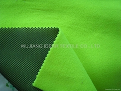 Polar Fleece Bonded Mesh Fabric