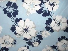 平纹印花桃皮绒
