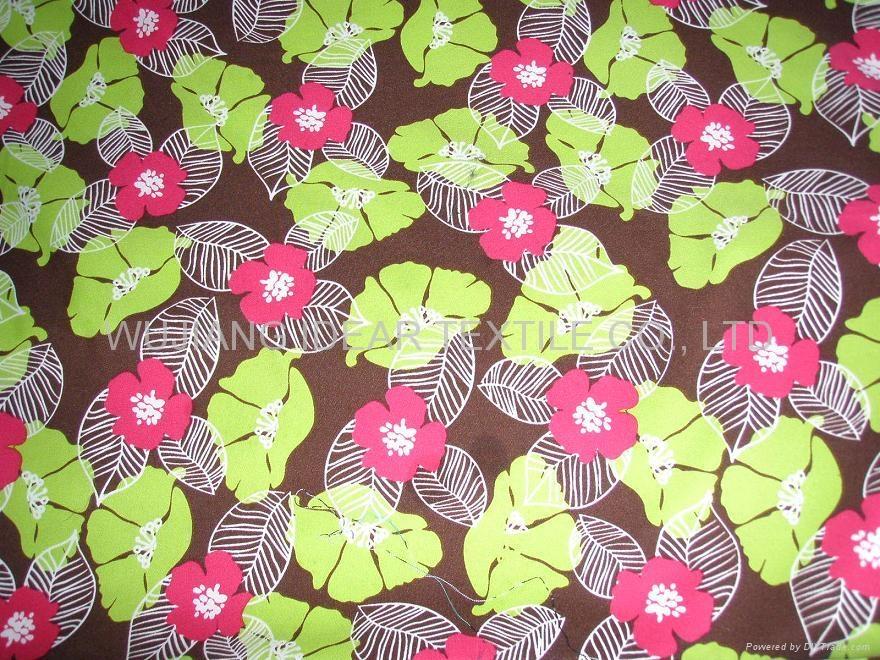 缎纹桃皮绒印花 1