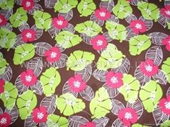 缎纹桃皮绒印花