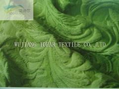 Knitted embossed velboa