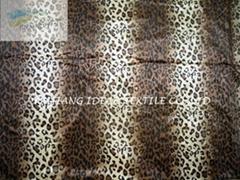 豹纹印花超细短毛绒