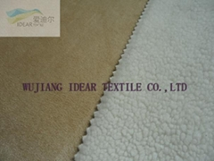 Imitation Wool Knitted Fabric Bonded Warp Suede
