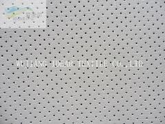高质量合成穿孔PVC皮革