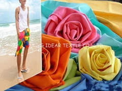 85%Polyester 15%Nylon Microfiber Peach Skin  Fabric For Beach Pant Fabric