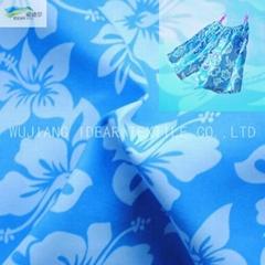 20D+26D*75D Printed Polyester Plain Peach Skin Fabric