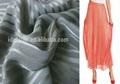 100% Polyester Stripe Yoryu Crepe Fabric