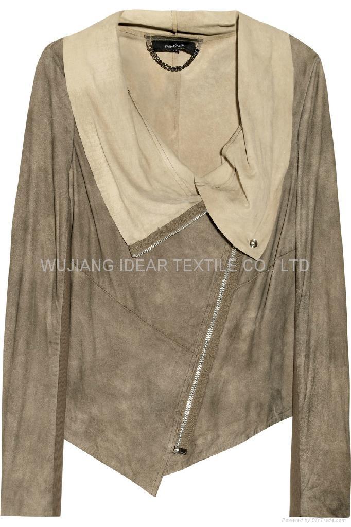 35%滌綸65%棉麂皮絨 夾克衫 外套面料 3