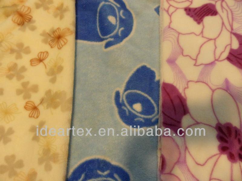 印花針織珊瑚絨 家紡 睡衣 居家服面料 2