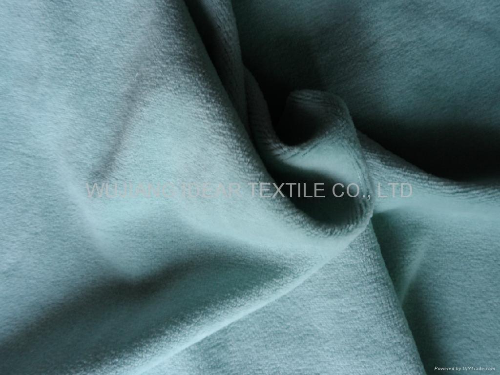 80%涤纶20%棉弹力天鹅绒 家纺面料 2