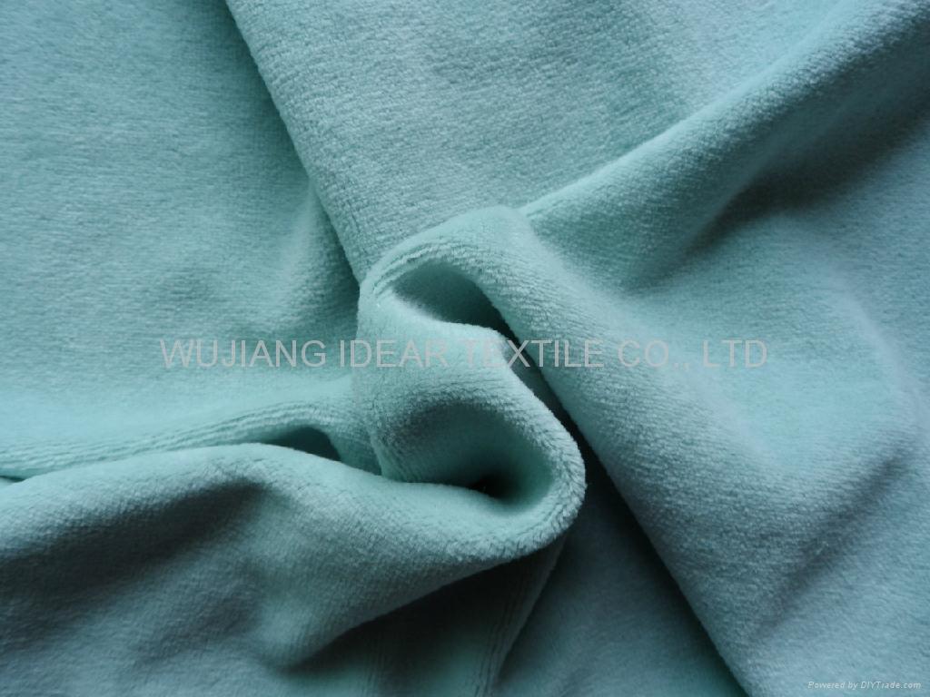 80%涤纶20%棉弹力天鹅绒 家纺面料 1