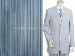 Printed Pure Cotton Seersucker for Suit/Uniform