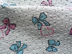 65%棉35%涤纶印花泡泡布 窗帘用料