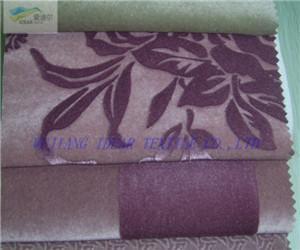 斜纹桃皮绒印花 2
