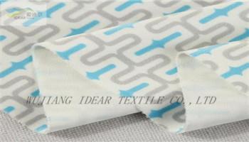 印花植絨復合針織布 2