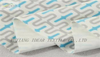 Printed Flocked Fabric Bonded With Knitted   2