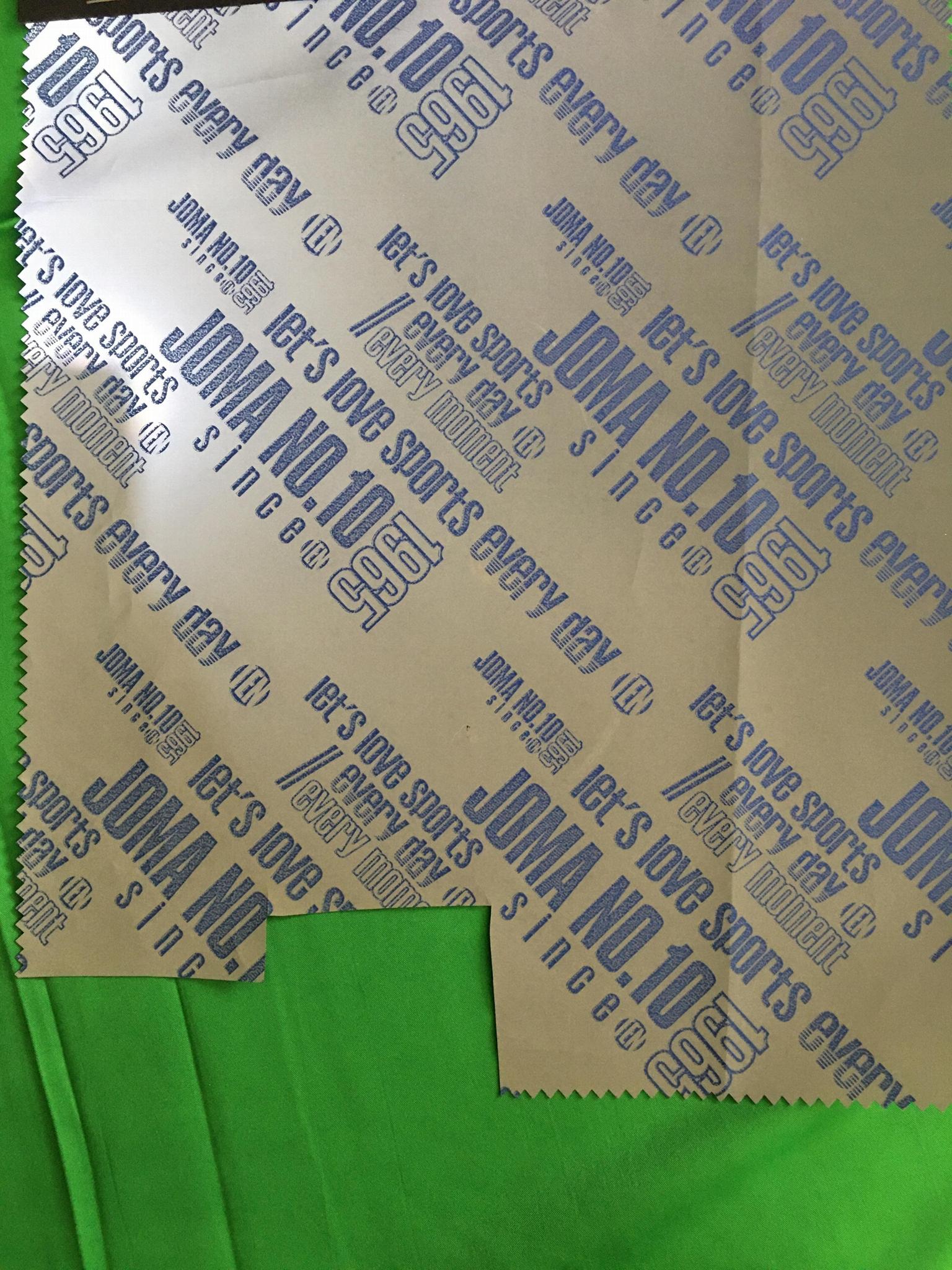 Alphabet design reflective fabric 1