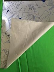 Custom reflective fabric with geometric design