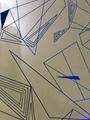 Custom reflective fabric with geometric design 2