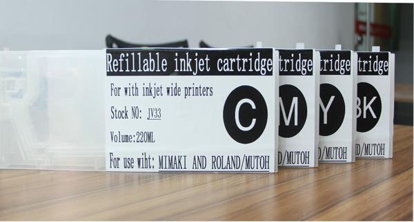 440ml refill ink cartridge K/C/M/Y high quality for mimaki jv33 cartridge 1
