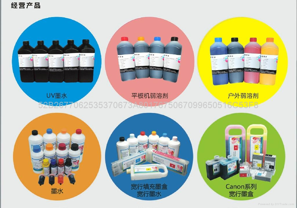 Professional Eco solvent ink for Epson F6070 used in large format printer  4