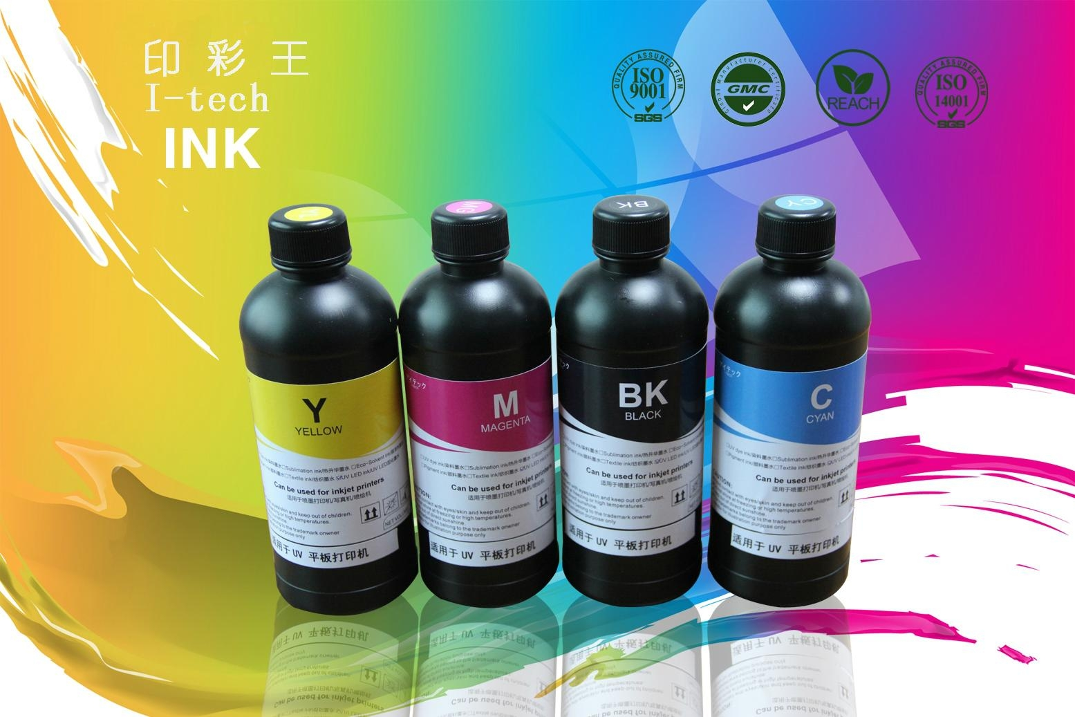 high color density uv ink for Wide Format Graphic Printing 1