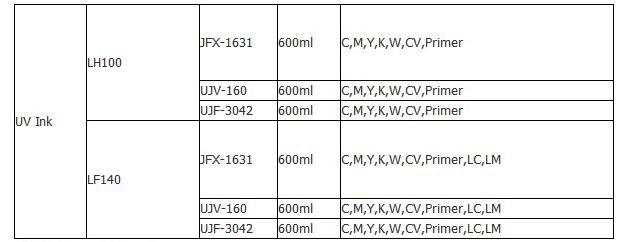 Mimaki UJF3042替代墨水兼容UV 墨水 LH100 LF140  4