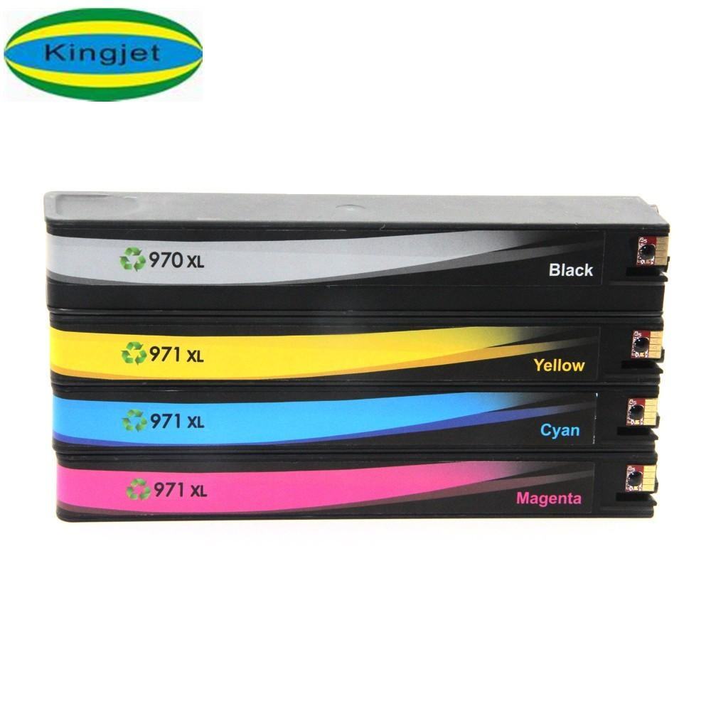 Printer compatible for HP 970 971 970XL 971XL ink cartridge with full ink 1