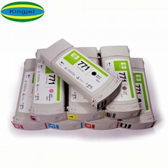Kingjet new product ink cartridge for HP 771 with HP z6200 z6600 z6800 printer