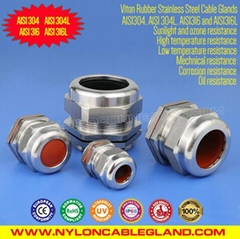 Stainless Steel Sealed Cable Glands Rated IP68 SS304/316/316L with Viton Rubber