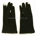 冬季時尚千鳥格羊毛手套 觸屏手套 5