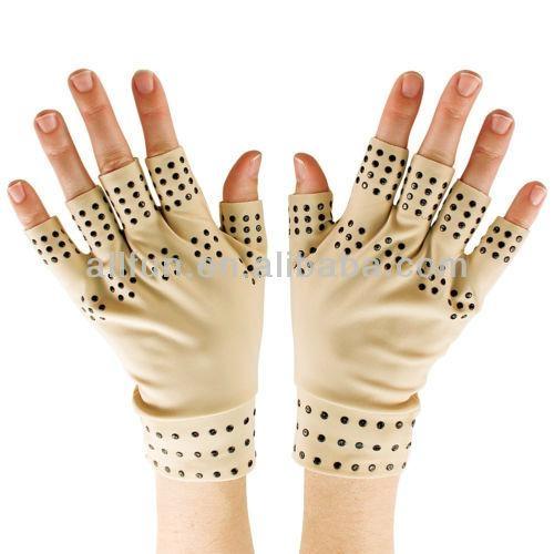 磁力點硅膠關節炎手套,用於緩解關節腫脹痛苦 2