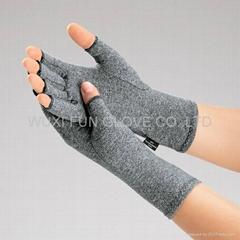 麻灰色棉質彈力關節炎手套 舒緩腫脹 減輕病痛