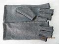 麻灰色棉質彈力關節炎手套 舒緩腫脹 減輕病痛 3