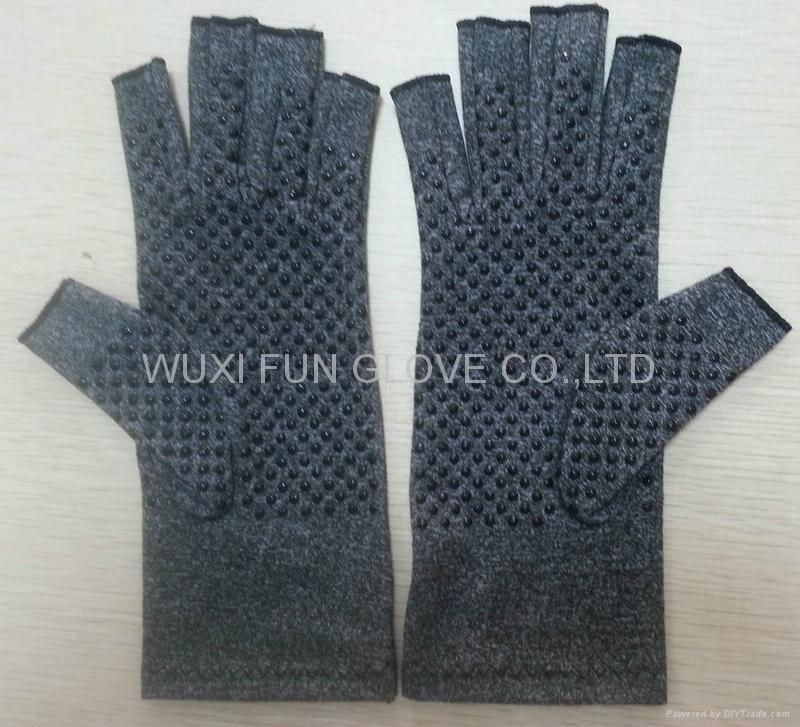 麻灰色棉質彈力關節炎手套 舒緩腫脹 減輕病痛 4