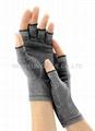 麻灰色棉質彈力關節炎手套 舒緩腫脹 減輕病痛 5