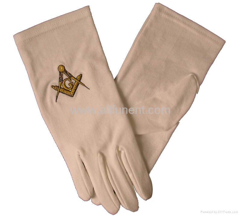Printed gloves/masonic glove/embroidered glove/Men's formal gloves 1