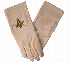 Printed gloves/masonic glove/embroidered glove/Men's formal gloves