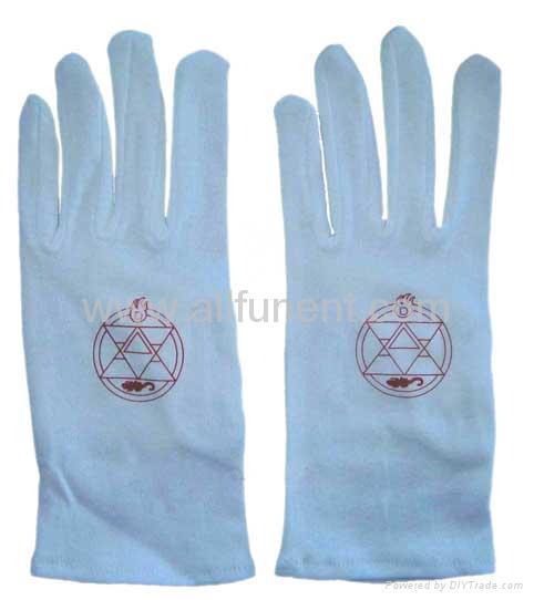 Printed gloves/masonic glove/embroidered glove/Men's formal gloves 3