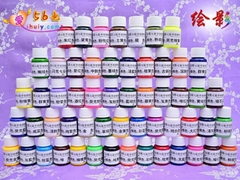 Colorful hand-painted pigment