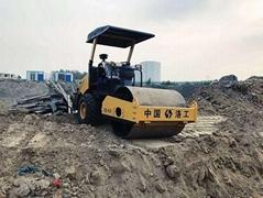 小型压路机厂家4吨单钢轮振动压路机土方沟槽沙石压实机