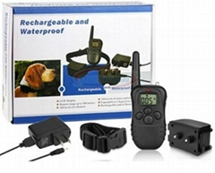 Waterproof & Rechargeable! 1 Dog LCD Shock&Vibrate Remote Dog Training Collar