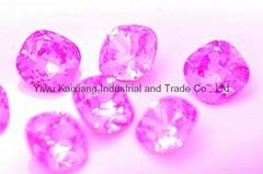 K9水晶玻璃,12肥方,粉红