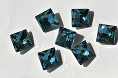 K9 Glas stone 4447 Princess square shape crystal beads, for jewelry accessories